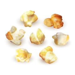 Popcorn set isolated on white background, vector EPS 10 illustration
