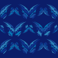 Seamless pattern with decorative butterflies. Summer day. Vector illustration. Can be used for wallpaper, textile, invitation card, wrapping, web page background.