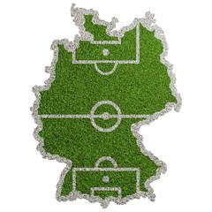 Karte von Deutschland als Fußball Spielfeld