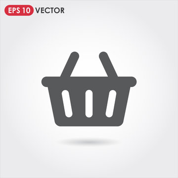 shopping basket account ui web button. ui elements. shopping basket vector icon for web, mobile and user interface design