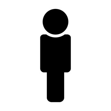 People icon in the trendy flat style on the white background. Isolated.