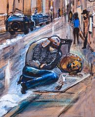 scene from street life
