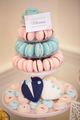 Delicious pink and turquoise macarons