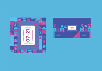 Social Media Post Layouts with Geometric Elements