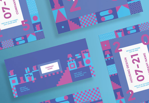 Flyer Layouts with Geometric Elements