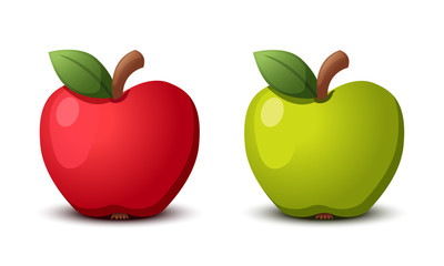 Apple red and green. Vector