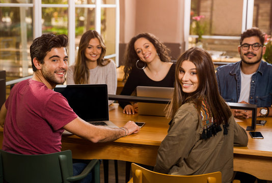 Group of students working together