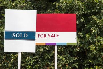 Fototapeta Blank for sale signs obraz