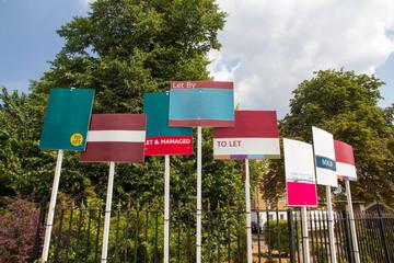 Fototapeta Blank estate agent signs obraz