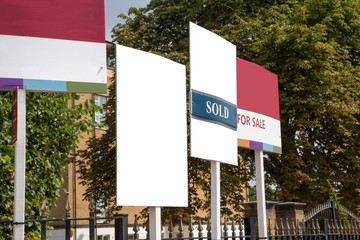 Fototapeta Blank for sale signs on display obraz