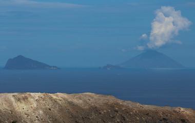 Stromboli and Panarea from Vulcano