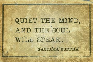 quiet mind Buddha