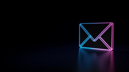 3d icon of envelope Fototapete