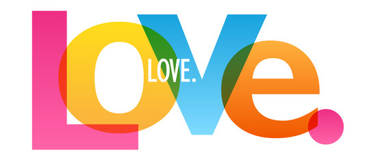 LOVE. colorful typography banner