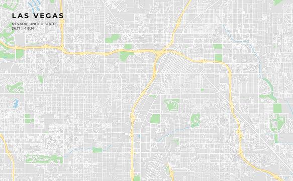 Printable street map of Las Vegas, Nevada