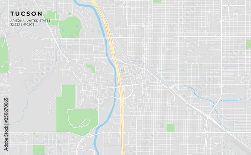 graphic about Printable Map of Tucson Az identified as Printable highway map of Tucson, Arizona\