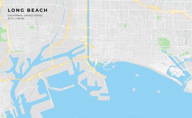 Printable street map of Long Beach, California