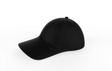 Baseball cap on white background. 3d illustration