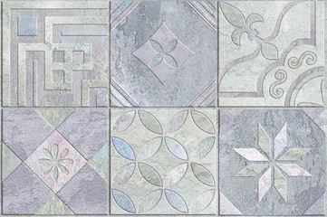 Tiles design.Ceramic wall and floor