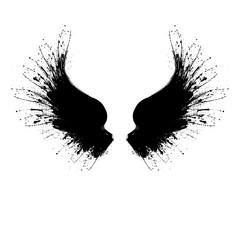 Black grunge wings two