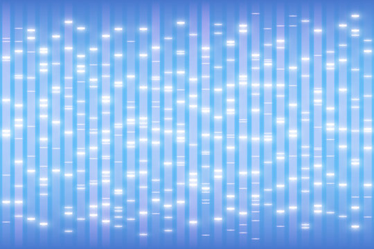 DNA test concept, human genetic profiling background, nucleic acids electrophoresis ladder, genome structure with markers, genetic fingerprinting vector illustration, DNA data