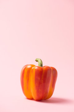 yellow bell pepper isolated on background