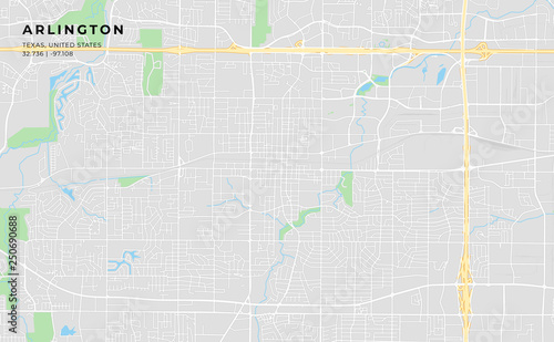 Map Of Arlington Texas.Printable Street Map Of Arlington Texas Stock Image And Royalty