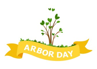 15.National Arbor Day Vector Illustration. For Greeting Card, Flyer, Poster and Banner
