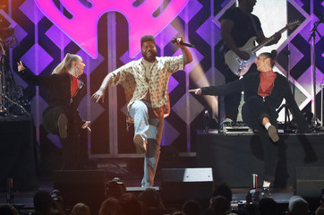 Khalid performs during the Jingle Ball concert at The Forum in Inglewood