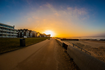 Sunset on the North sea coast Wall mural