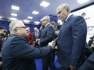 Rosneft CEO Sechin attends the St. Petersburg International Economic Forum
