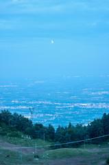 notte luna lunga esposizione pianeti spazio