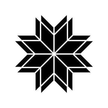 Ethnic baltic cross ornamental symbol. Vector illustration.