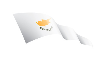 Cyprus flag, vector illustration on a white background