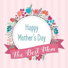 Mothers Day elegant invitation card template, Floral design background