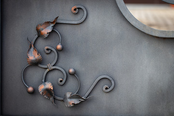 beautiful decorative metal elements forged wrought iron gates Fototapete