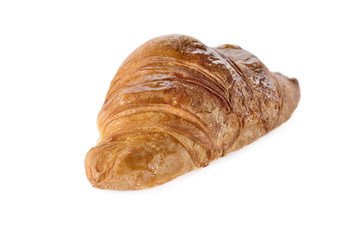 Shot of fresh croissant isolated on white background.