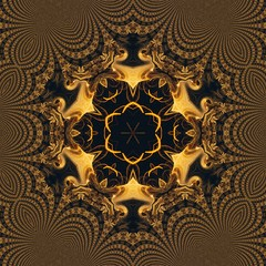 Abstract graphic painting golden background. Elite and rich pattern. Liquid gold fractal art.