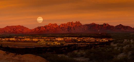Foto auf AluDibond Braun Adobe Moon Pano