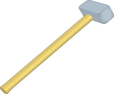 Sledge Hammer Vector Illustration