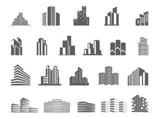 Logo template real estate. Clean, modern and elegant style design