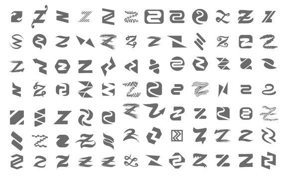 Vector illustration concept of z letter logo. Icon on white background