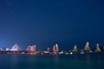 橋杭岩の夜景