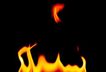 Defocused Burning Flames on a Black Background