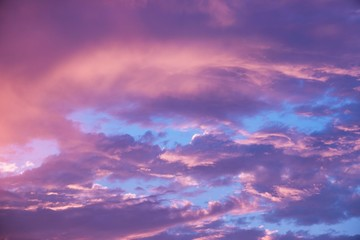 beauty colorful dramatic sky with cloud at sunset