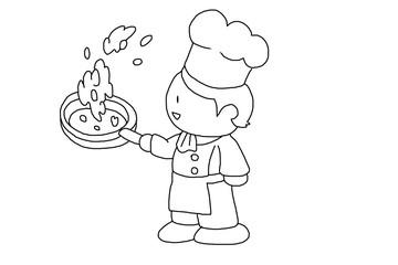 コックさん・調理中