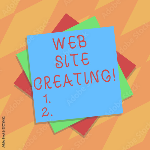 Handwriting text Web Site Creating  Concept meaning create