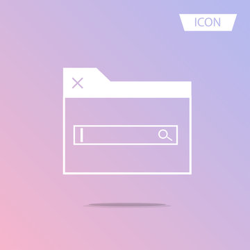 Search in browser icon vector isolated on white background.