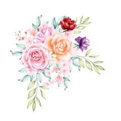 watercolor floral bouquet background