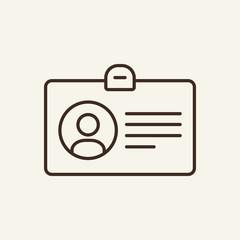 Accreditation line icon